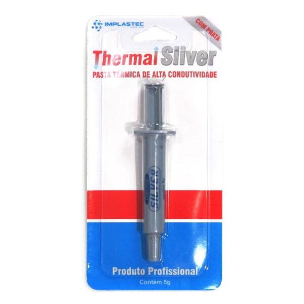 Pasta Térmica Implastec Silver Seringa 5 Gramas Prata