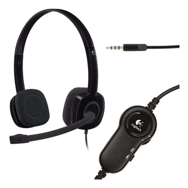 Headset Logitech H151 Estéreo Analógico P3 Preto