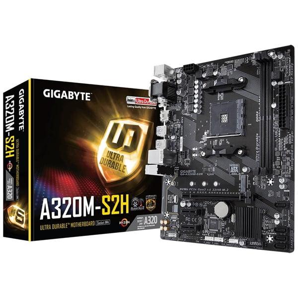 Placa-Mãe Gigabyte GA-A320M-S2H AMD AM4 mATX DDR4