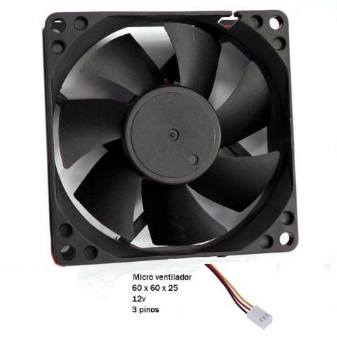 Fan Cooler Ventilador 6X6 Cm 3 Pinos GV COL.707