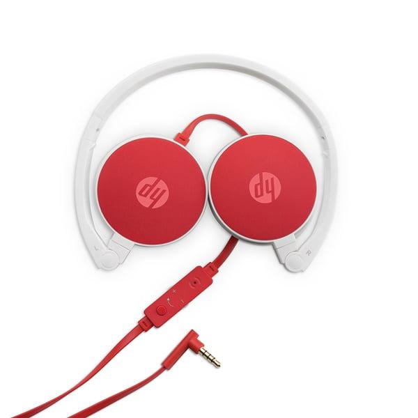 Headphone Dobravel C/ Microfone Hp H2800 Cardinal Red