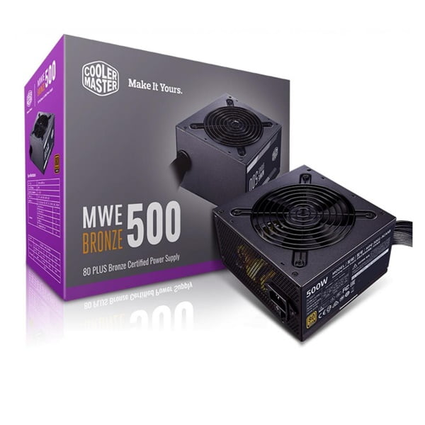 Fonte Atx 500w Real 80 Plus Bronze CoolerMaster MPE-5001-ACAAB-BR
