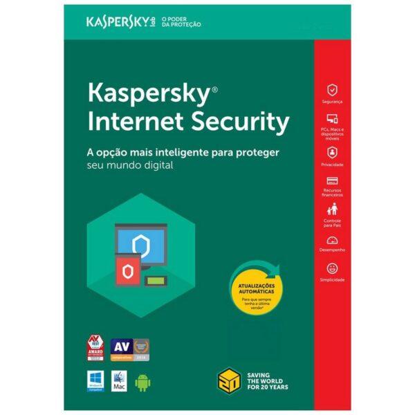 Kaspersky Internet Security Brazil 1 PC 1 Ano Digital
