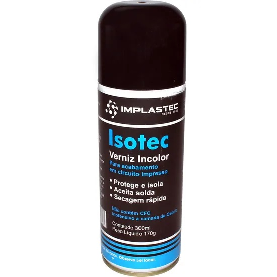 Verniz para Circuito eletrônico Isotec Implastec